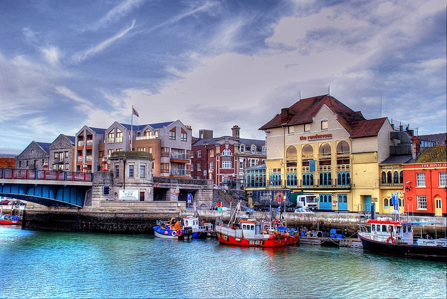 Town Bridge in Weymouth, Dorset.