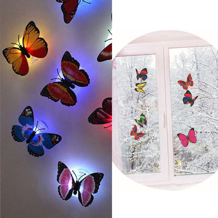 1pc Colorful Romantic LED Butterfly Bedside Night Light Room Xmas Decorate Lamp $2.23 (free shipping)