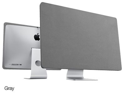 ScreenSavrz iMac Screen Cover.   Made from RadTech's super-thin, ultra-tough Optex® fabric. Perfectly tailored for a tight, clean and refined look.  Covers, cleans, polishes and restores - prevents dust, soiling and abrasions