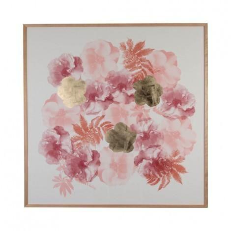 Rose Paper Print in Buff Rust | Bonnie & Neil – Salt Living or online at www.saltliving.com.au #saltliving #bonnieandneil #screenprinting #linen #handmade #print #art