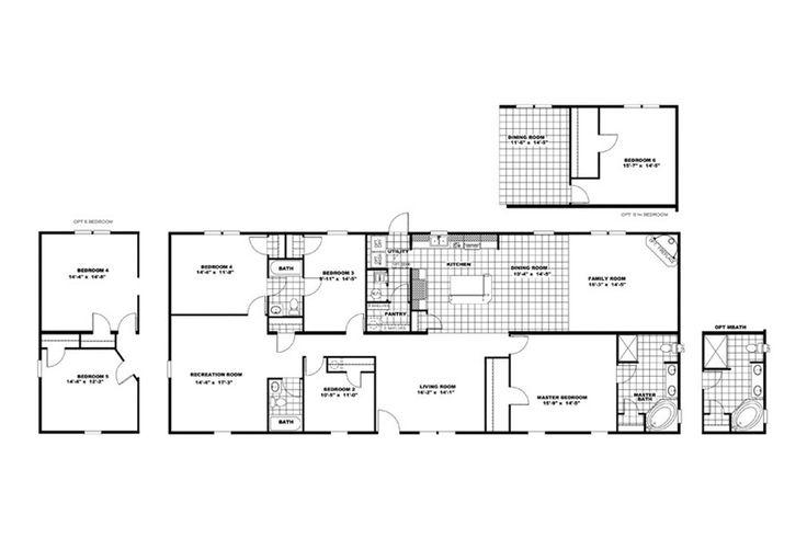 Floorplan the cabana 30crb32764bh oakwood homes of for The veranda clayton homes