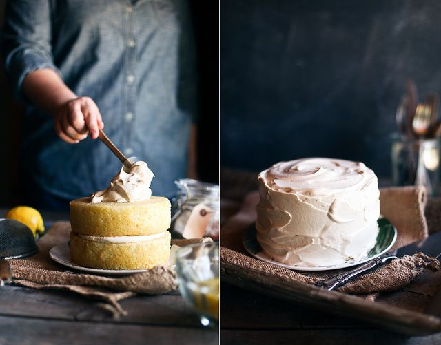 lemon cake with black tea frosting (on honey & Cake recipe yummy