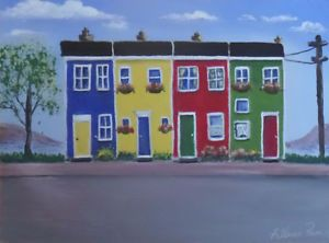 Learn how to paint Jelly Bean Houses, and Newfoundland scenes St. John's…