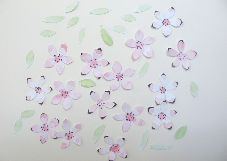 fleurs pour guirlande printemps