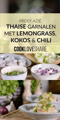 Proef Azië met deze Thaise garnalen met lemongrass, kokos & chili #cookloveshare #yummy #food #eten #conimex #amazing