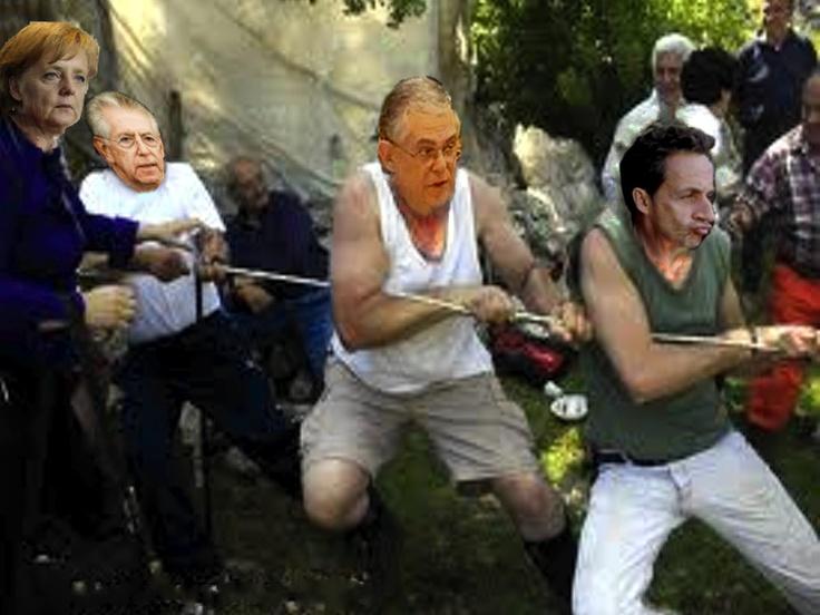 La Merkel dirige il tiro alla corda europeo