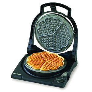 Express Waffle Maker from Chefs Choice Pro.  For the romantic in you; this Waffle Maker will give you waffles in the shape of hearts. The Chefs Choice Pro Express Waffle Maker is not only great at cooking up the texture but has ample capacity to make 5 waffles in one go.