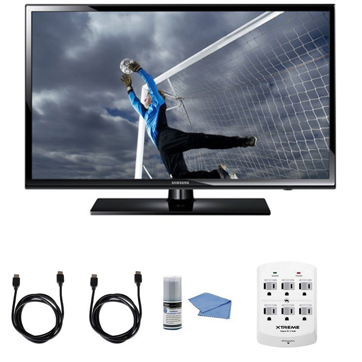 Samsung UN40H5003 - 40-Inch Full 1080p HD 60Hz LED TV   Hookup Kit - Includes TV, HDMI to HDMI Cable 6', 6 Outlet Wall Tap Surge Protector with Dual 2.1A USB Ports and Cleaning Kit for Sale