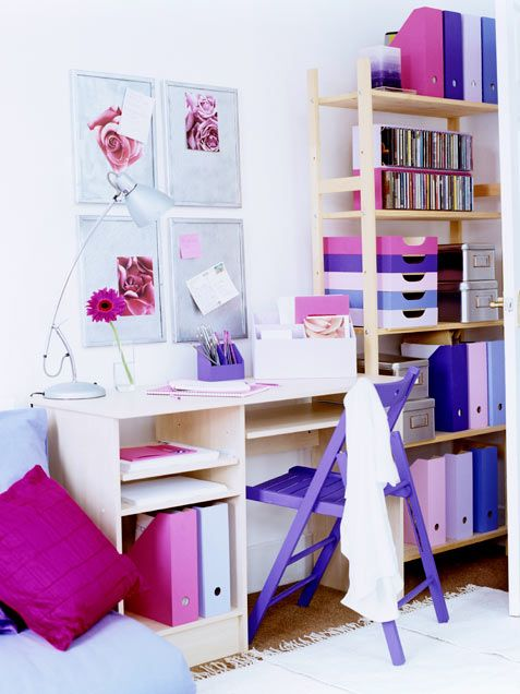 For a customized look, work a bit of DIY magic and paint furniture and wooden storage containers in coordinating hues.