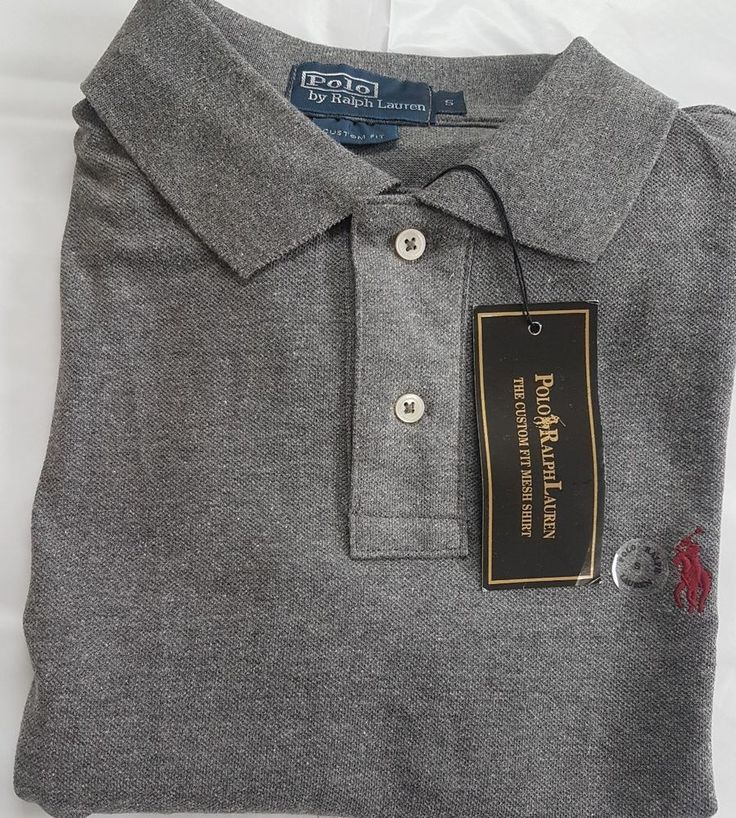 Mens' Ralph Lauren Polo Tshirt, Dark Grey, Small, Brand New With Tags