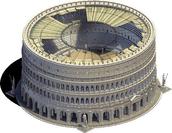 El Anfiteatro Flavio (El Coliseo de Roma)