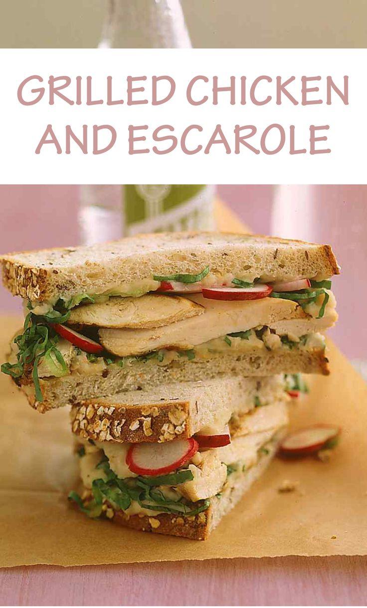 White apron sandwiches dc menu - Grilled Chicken And Escarole Sandwich With White Bean Spread Martha Stewart Living