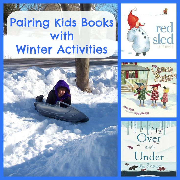 Pairing Kids Books with Winter Activities - great way to get the kids to read (and have some fun!)