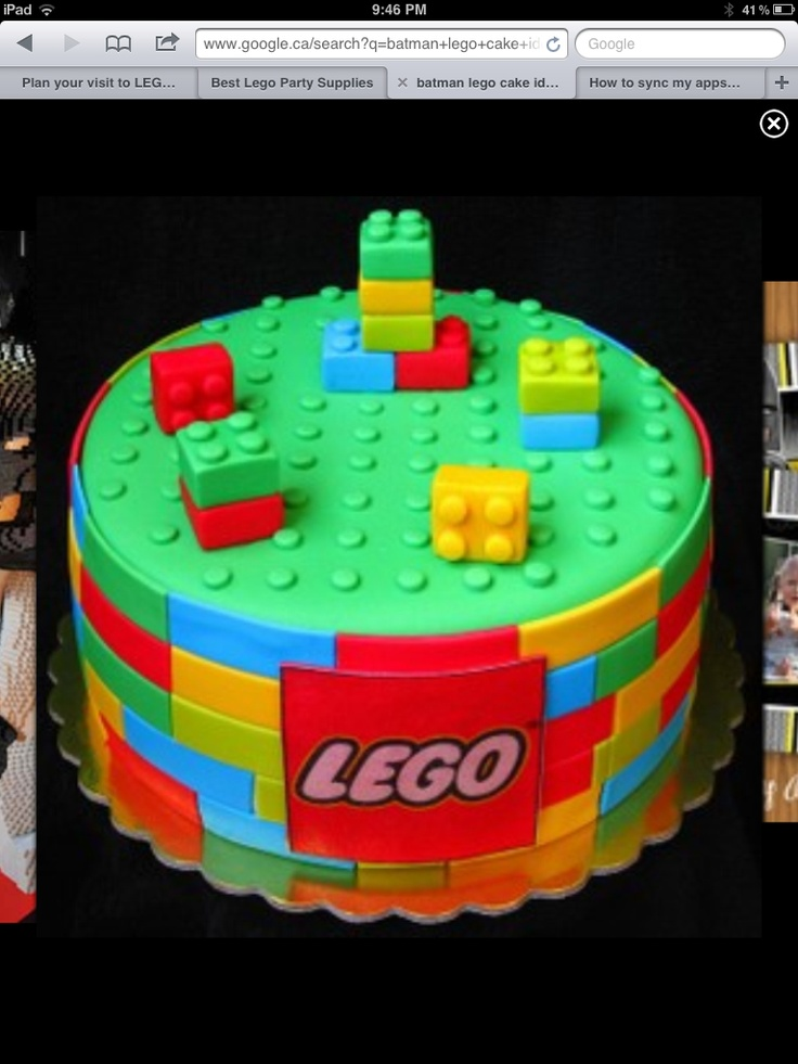 Lego Blocks Cake Design : 62 best images about Mateo s 4th bday. Lego party Ideas on ...
