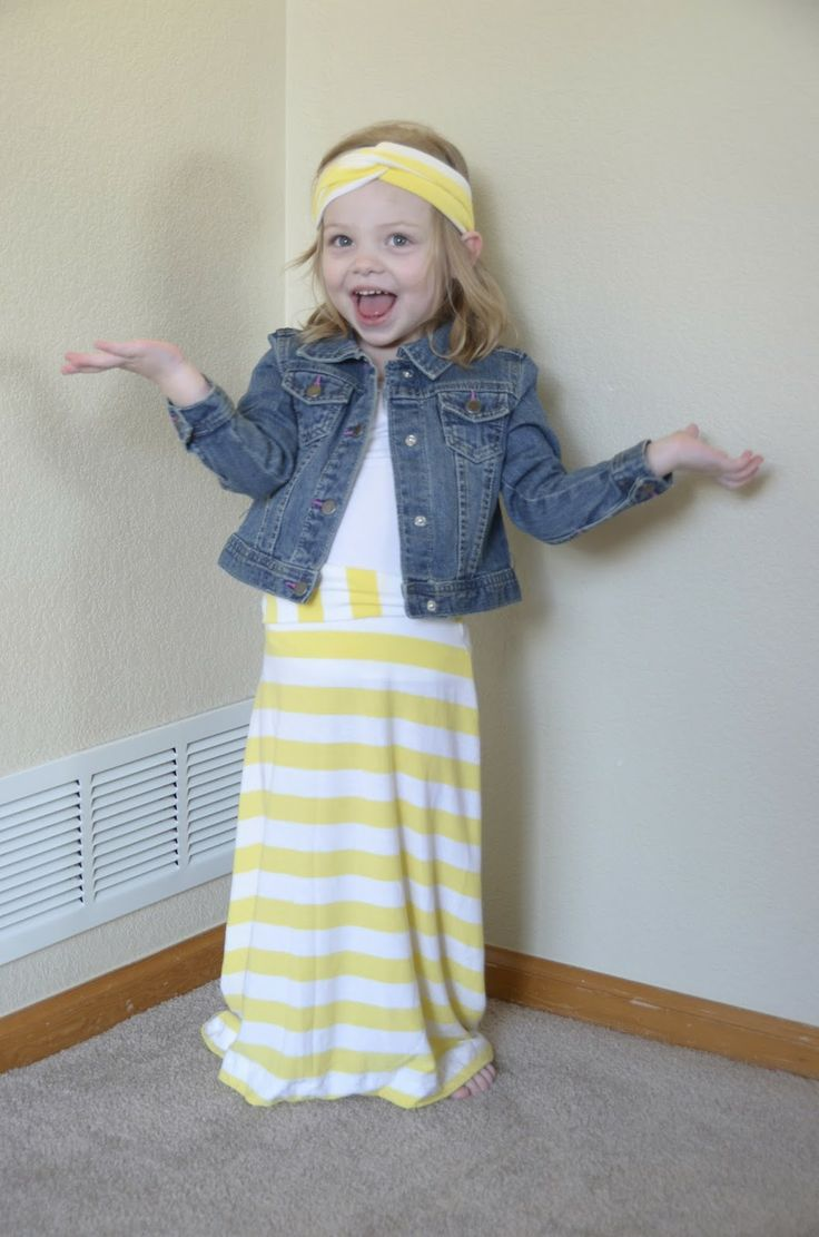 This could technically be $4 Friday because that's all I spent on this darling toddler maxi skirt for my 4-year-old daughter! Yup, $ tank tops from Wal-Mart, magically transformed into new skirts.
