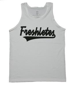Image of Script Logo Tank - White #Freshletes