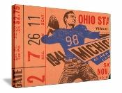 vintage football art. 1941 Ohio State vs. Michigan football ticket canvas art