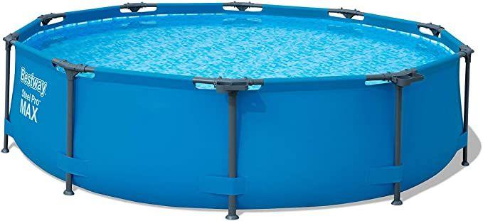 Amazon Com Bestway 56407 Steel Pro Above Ground 10ft X 30in Frame Pool Set W Filter Pump 10 Feet By 30 Inch Blue Garden In 2020 Bestway Pool Easy Set Pools