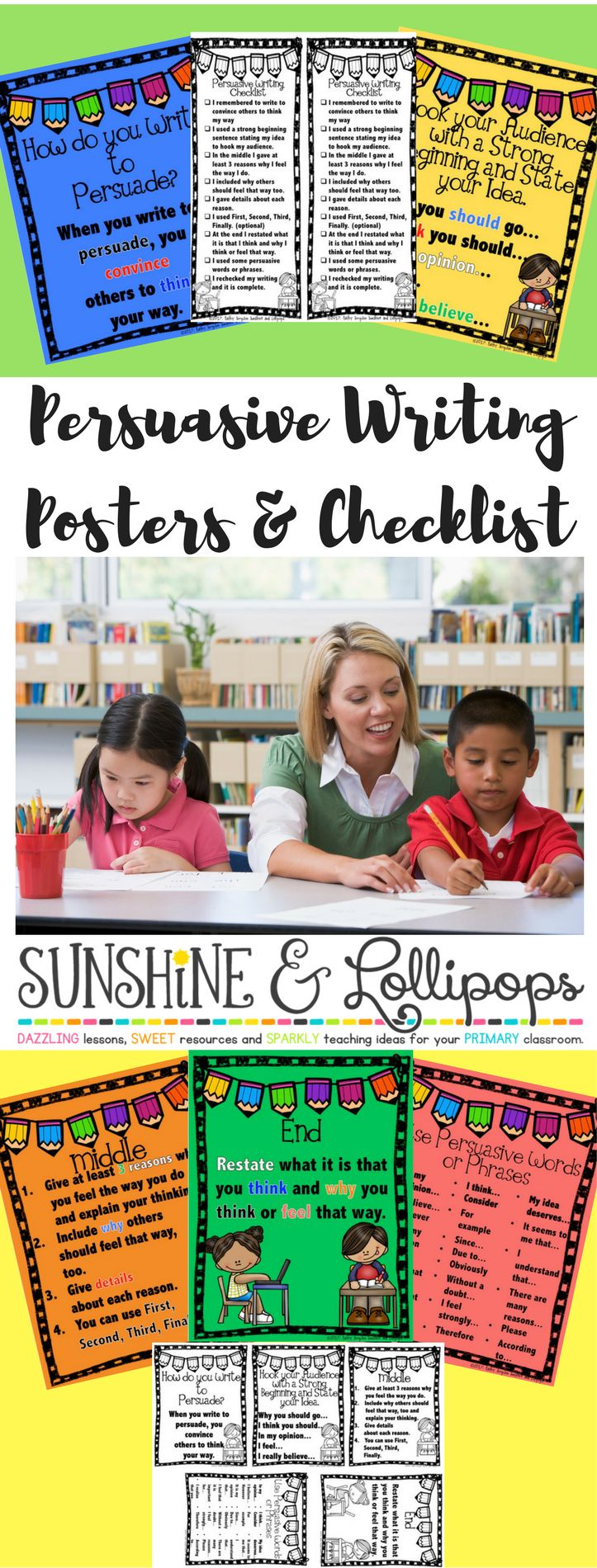 Persuasive Writing:  Hot Off the Press!! $1.00 until March 4th!  Do you want to make your life easier? I am sure you do...so...these Persuasive Writing Posters and Checklist will make teaching and learning how to write persuasively so easy for everyone involved! Check it out!