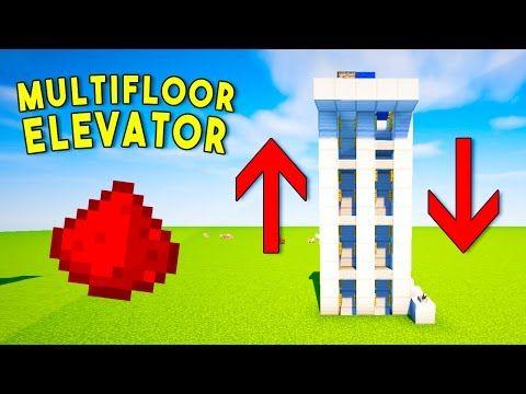 REALISTIC MULTIFLOOR REDSTONE ELEVATOR - Minecraft Redstone Tutorial - YouTube