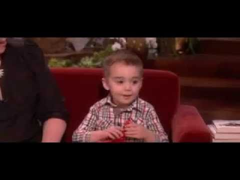 Cute child says ellen is most beautifull in the world on the ellen show - YouTube