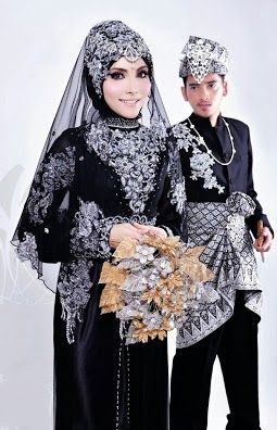 Model Baju Pengantin Muslim 2014, bride wear black