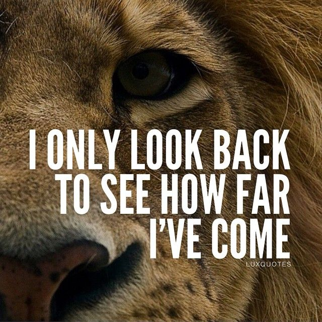 No looking back...going forward