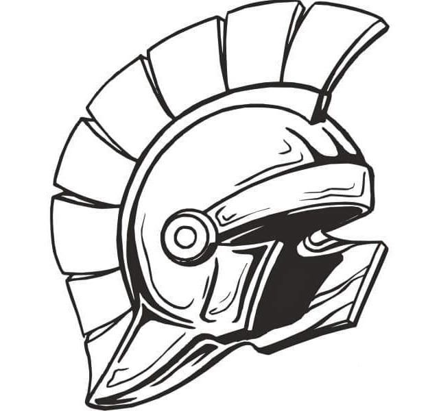 Helmet Spartan Coloring Page Coloring Pages Helmet Drawing