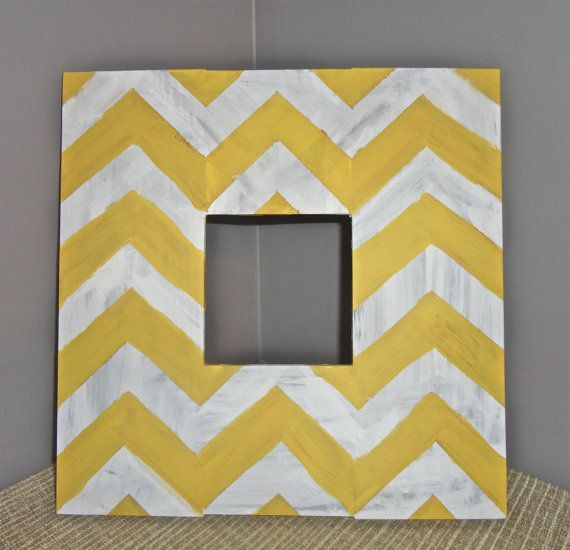 doing this to my ikea mirrors!!Wood Pictures, Wood Picture Frames, Rustic Yellow Mustard, Living Room, Bedrooms Frames, Painting Frames, Chevron Rustic, Rustic Wood, Pictures Frames