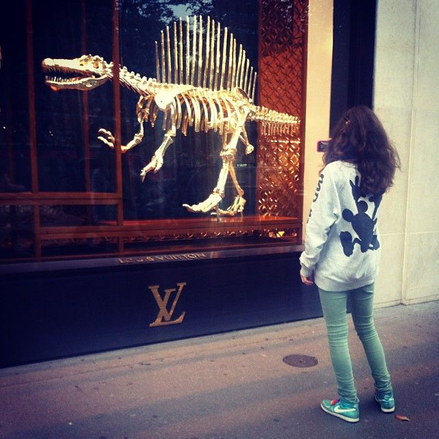 Louis Vuitton windows in Paris