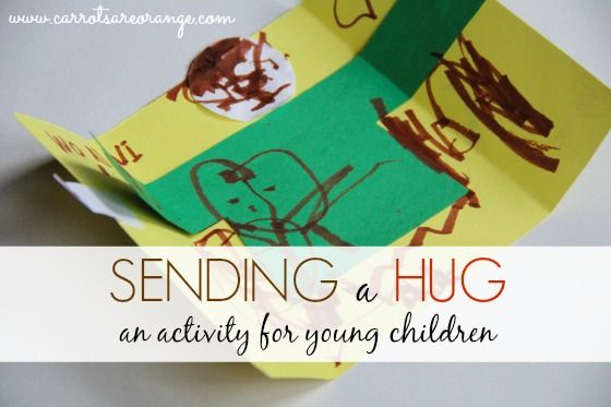 """What a great idea for sending a hug to a bio parent while kiddo is in care ... No immediate contact required, but kiddo still gets to """"reach out"""" ... And bonus, bio parents feel included and have a tangible sign of their child's love"""