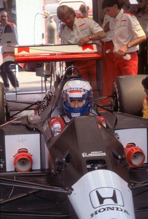 Alain Prost  McLaren MP45B  Honda V10. GP Alemania 1989.