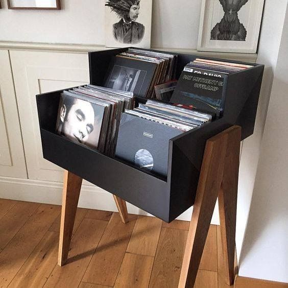 Cool record storage for the home - looks a bit like a record shop stand