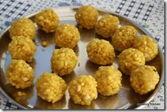 "Another interesting Laddoo recipe. Ever since watching ""English Vinglish"" I have wanted to try making Laddoos."