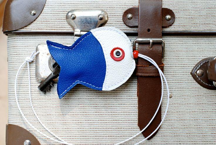 Leder-Schlüsseletui·⚓·Fisch·⚓· von Chiquita Jo ♥  auf DaWanda.com