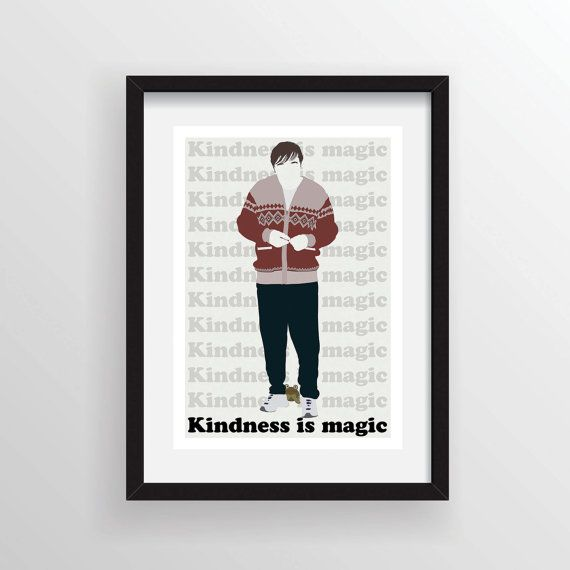 Derek (Ricky Gervais) 'Kindness is Magic' - A3 Digital Art Print, Wall Poster Minimal Graphic Limited Edition of 50