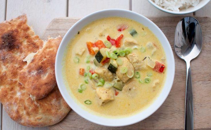 Kyllingsuppe med nanbrød