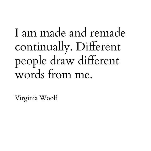 Virginia Woolf. Identity. Quote.