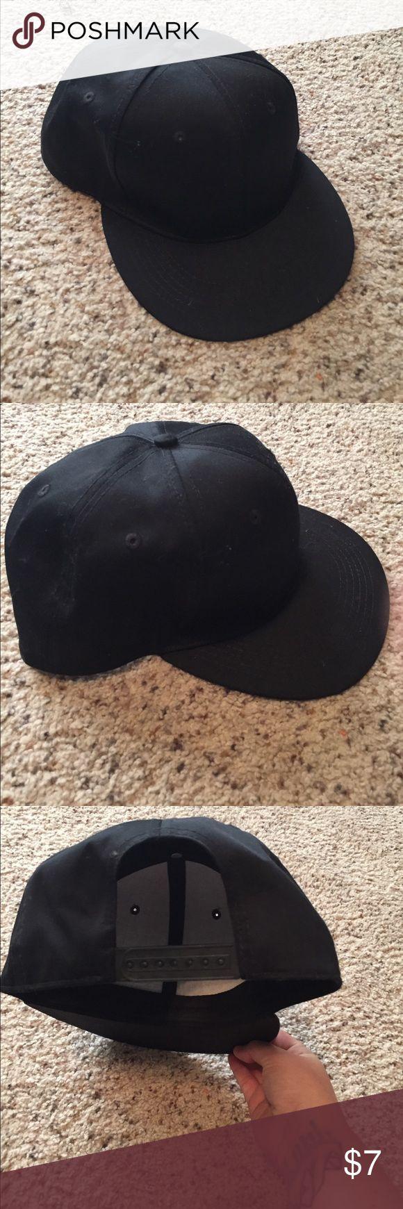 Plain black SnapBack by infinity headwear Plain hat, never worn Accessories Hats