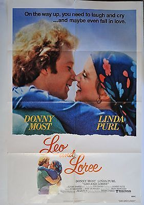 """Donny Most Linda Purl Poster Leo and Loree Movie Folded 40"""" x 27"""" 1980"""