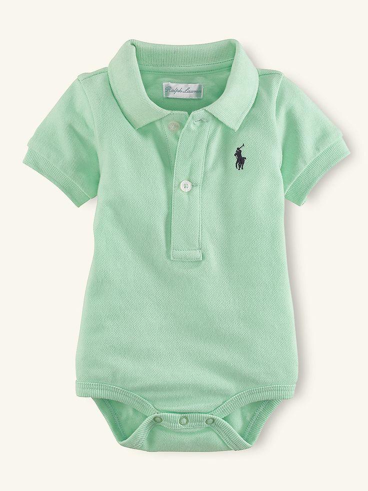 Short-Sleeved Polo Bodysuit - Tops & Bottoms  Layette Boy (Newborn-9M) - RalphLauren.com