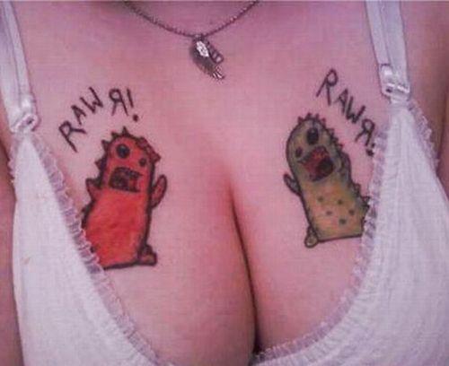 9 Awkward Tattoos on Boobs!