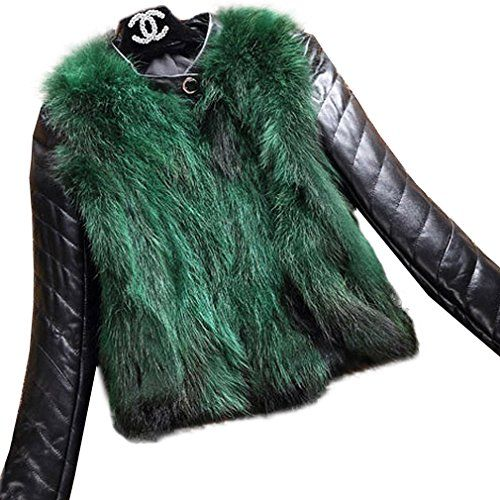 Fur Story 151263 Women's Real Fox Fur Coat With Sheep Leather Down Sleeve Green US 8 Size suggestion:(1£©Recommend the US 4 when your bust size smaller than 34.6 in;£¨2£©Recommend the US 6 when your bust size smaller than 36.2 in;£¨3£©Recommend the US 8 when your bust size smaller than 37.8 in;£¨4£©Recommend the US 10 when your bust size smaller than 39.4 in;£¨5£©Recommend the US 12 when your bust size smaller than 40.9 in;To avoid choosing the wrong size,