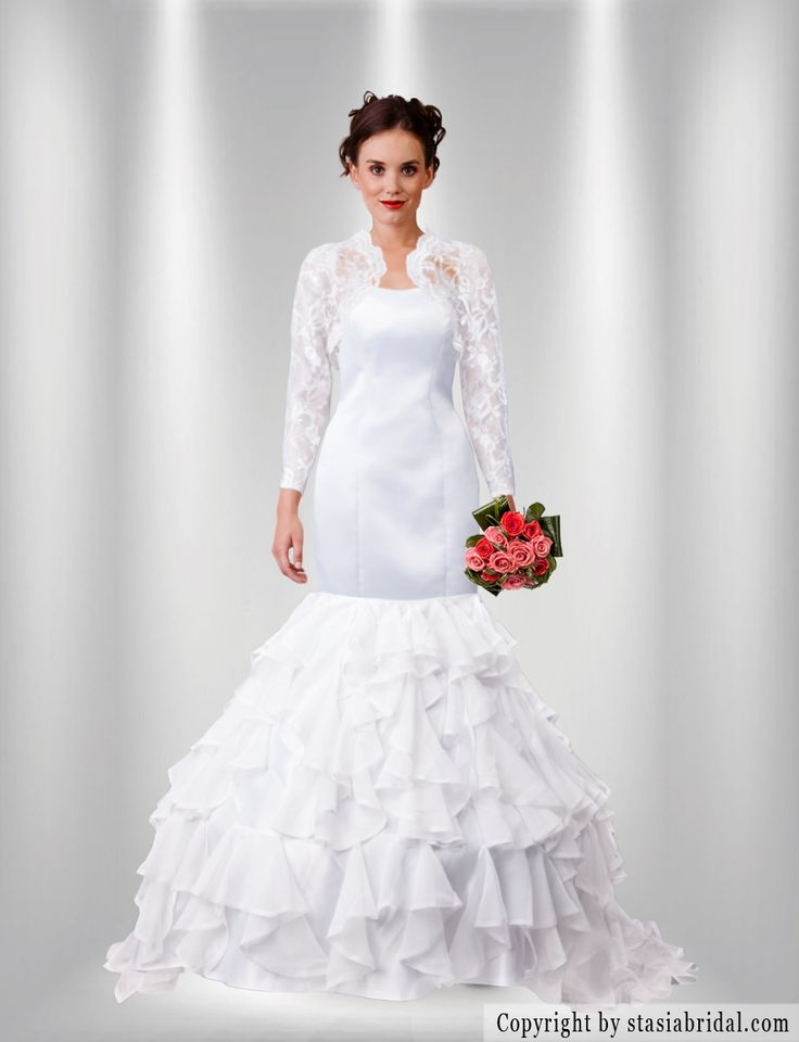 Modest wedding dress with sleeves, modest wedding gown with sleeves