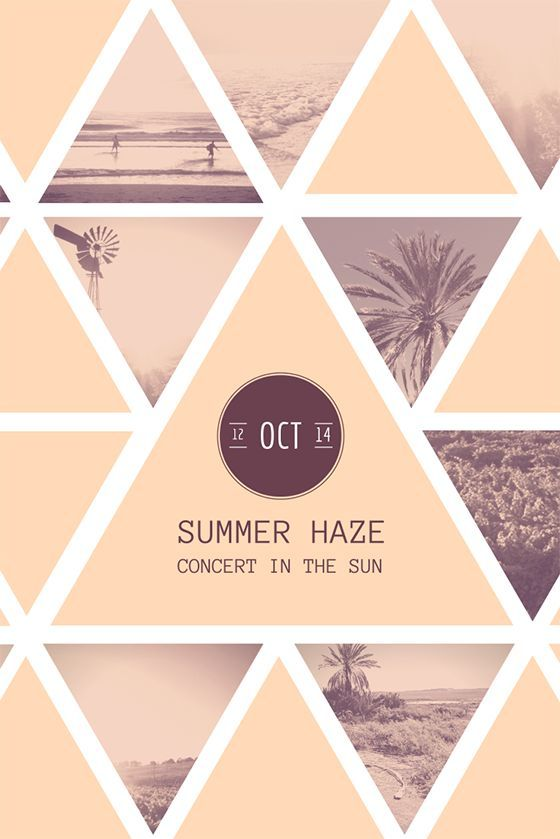 Summer haze poster- with this poster's composition I might use it in my poster with my logo because of my logo shape.