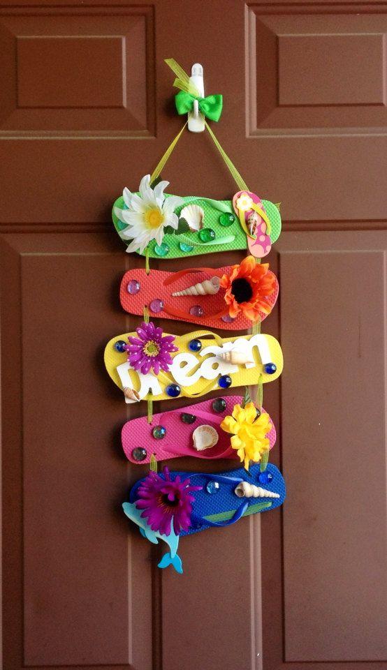 Flip Flop Wreath  Dream by AuntEllenGifts on Etsy, $20.00