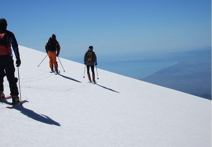 Esquiar en el Volcán Etna en Sicilia