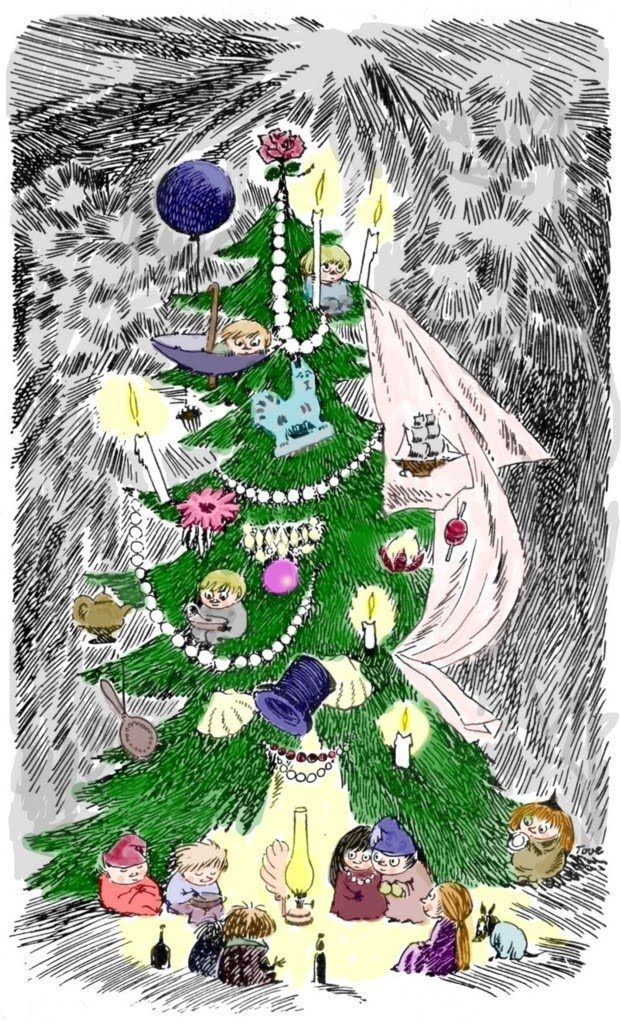 Moomin Christmas! Just read an extract from Tove's memoirs about her childhood Christmases. Magical times :-)