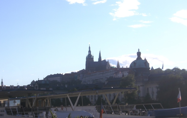 Prague Castle from the Jazz Boat