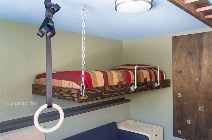 25 best ideas about hanging beds on pinterest hanging for Floating loft bed designs